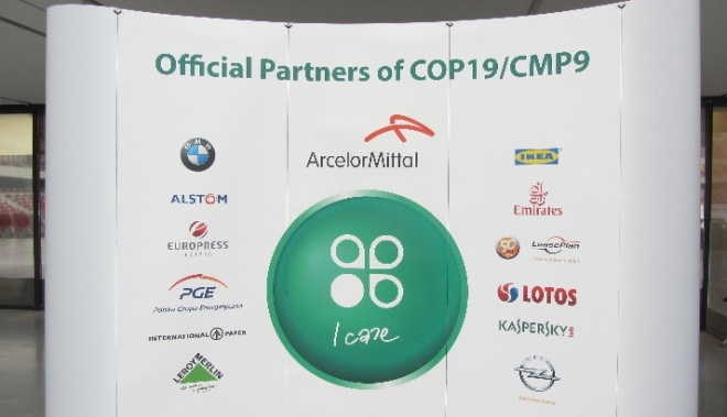 There were13 official corporate business partners at COP19: ALSTOM Power, ArcelorMittal Poland, BMW Group Poland, Emirates Air, Europress Poland, General Motors Poland Sp, LOTOS Group, International Paper – Kwidzyn, Kaspersky Lab Poland, LeasePlan Fleet Management (Poland), PGE Polish Energy Group, Leroy Merlin Poland and IKEA