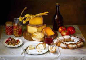 jose_escofet_table_of_bread_cheese_olives_and_wine-1012729